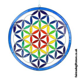 Fair Trade Suncatcher - Giant Flower of Life