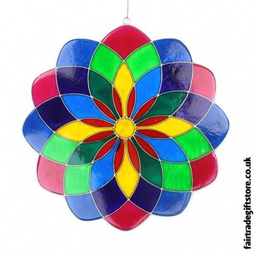 Fair Trade Suncatcher - Multicoloured Mandala