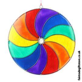 Fair Trade Suncatcher - MulticolouredRainbow Spiral