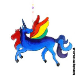 Fair Trade Suncatcher - Multicoloured Unicorn