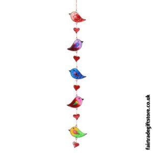 Fair Trade Suncatcher - String of Birds