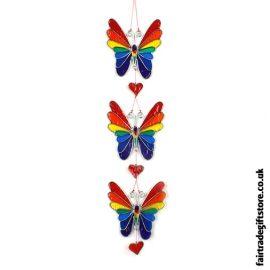 Fair Trade Suncatcher - String of Butterflies