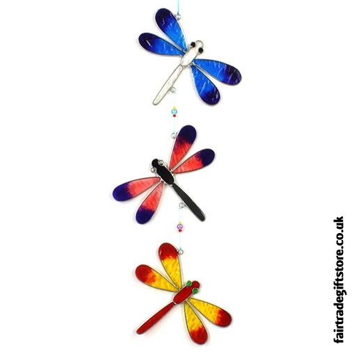Fair Trade Suncatcher - String of Dragonflies