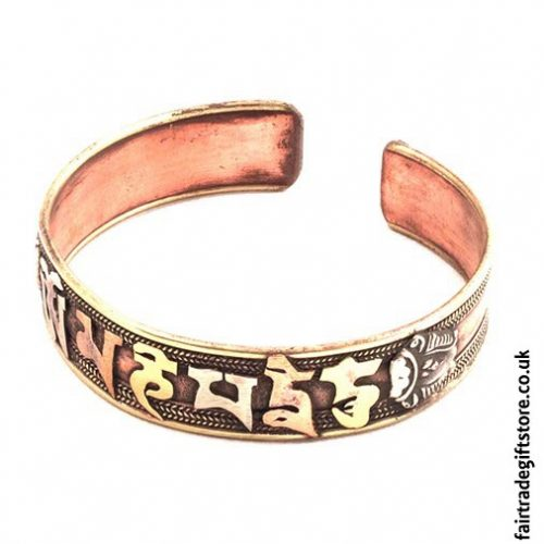 Fair-Trade-Copper-Bracelet-Om