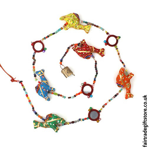 Fair-Trade-Dangley-String-of-Camels-with-Bell
