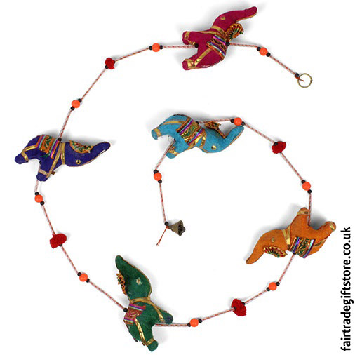 Fair-Trade-Dangley-String-of-Elephants-with-Bell