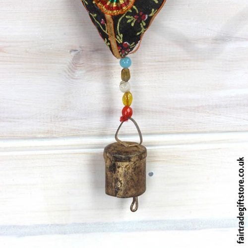 Fair-Trade-Dangley-String-of-Hearts-with-Bell-Bell-Detail