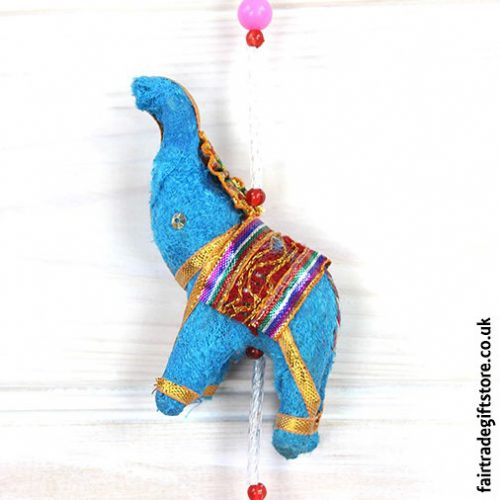 Fair-Trade-Dangley-String-of-elephants-with-Bell-Elephant-Detail