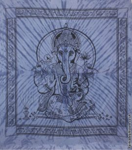 Fair-Trade-Cotton-Throw-Blue-Tie-Dye-Ganesh