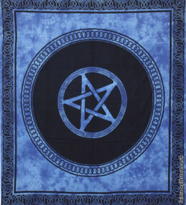Fair-Trade-Cotton-Throw-Blue-Tie-Dye-Pentagram