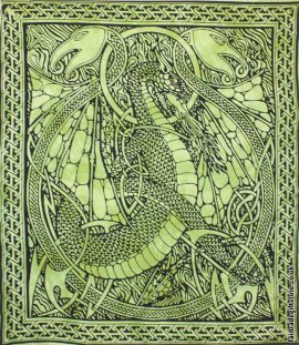 Fair-Trade-Cotton-Throw-Green-DragonFair-Trade-Cotton-Throw-Green-Dragon