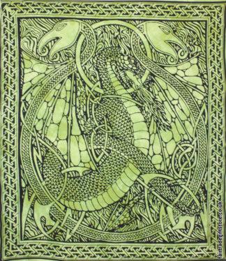 Fair-Trade-Cotton-Throw-Green-DragonFair-Trade-Cotton-Throw-Green-Dragon