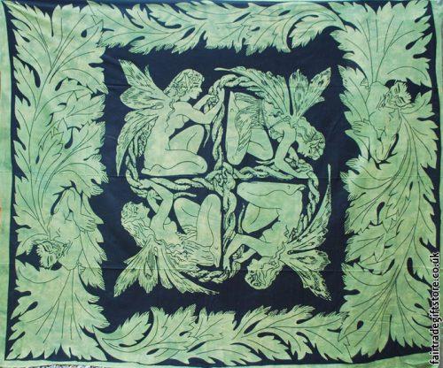 Fair-Trade-Cotton-Throw-Green-Fairy