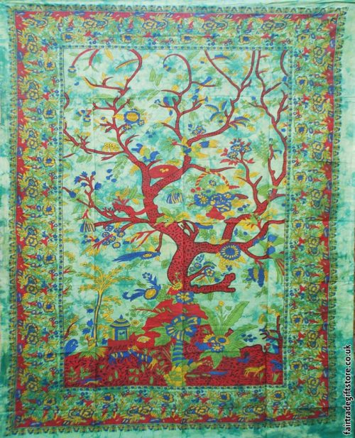 Fair-Trade-Cotton-Throw-Green-Tree-of-Life