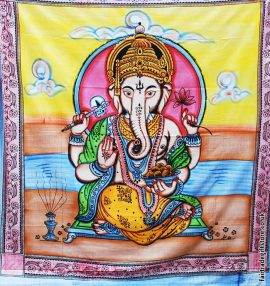 Fair-Trade-Cotton-Throw-Multicoloured-Ganesh