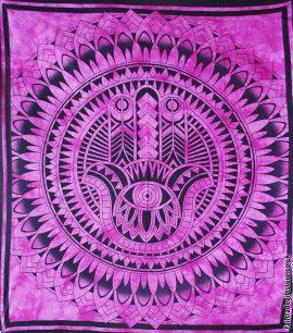Fair-Trade-Cotton-Throw-Pink-Hamsa-Hand