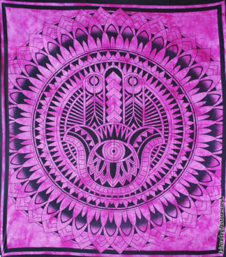 Fair-Trade-Cotton-Throw-Pink-Hamsa-Hand