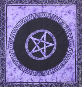 Fair-Trade-Cotton-Throw-Purple-Tie-Dye-Pentagram