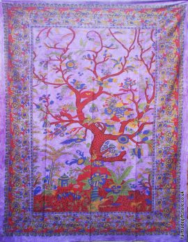 Fair-Trade-Cotton-Throw-Purple-Tree-of-Life