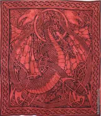 Fair-Trade-Cotton-Throw-Red-Dragon