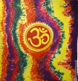 Fair-Trade-Cotton-Throw-Tie-Dye-Om