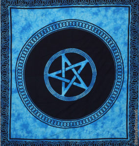 Fair-Trade-Cotton-Throw-Turquoise-Tie-Dye-Pentagram