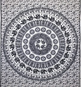 Fair-Trade-Cotton-Throw-White-Elephant-Mandala