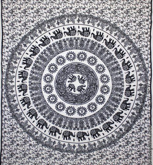 Fair-Trade-Cotton-Throw-White-Elephant-Mandala