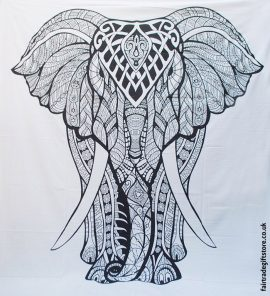 Fair-Trade-Cotton-Throw-White-Mandala-Elephant