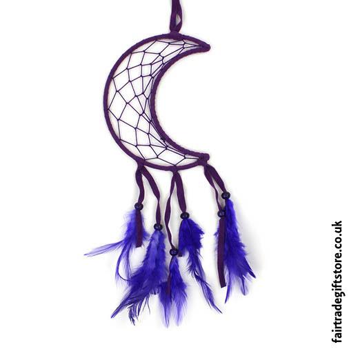 Fair-Trade-Dreamcatcher-Purple-Crescent-Moon