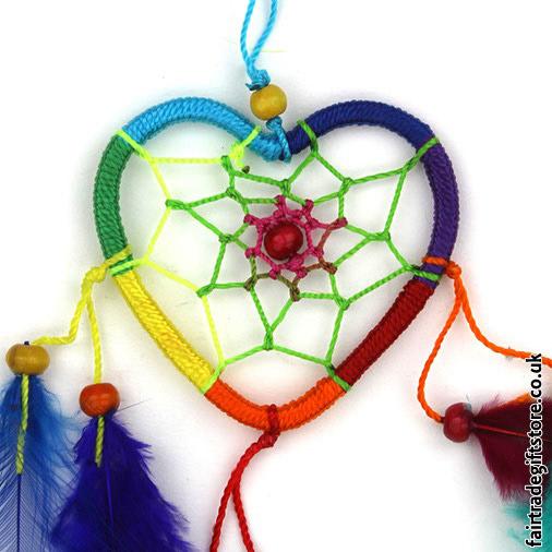 Fair-Trade-Dreamcatcher-Rainbow-Heart-close-up