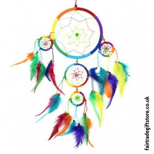 Fair-Trade-Dreamcatcher-Rainbow-Large-Five-Ring