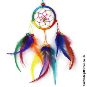 Fair-Trade-Dreamcatcher-Rainbow-Small-Round
