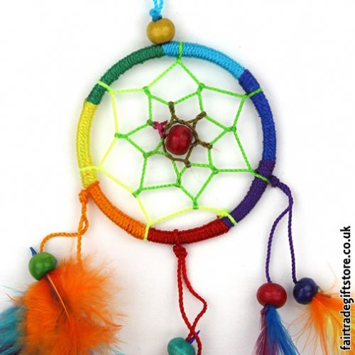 Fair-Trade-Dreamcatcher-Rainbow-Small-Round-close-up