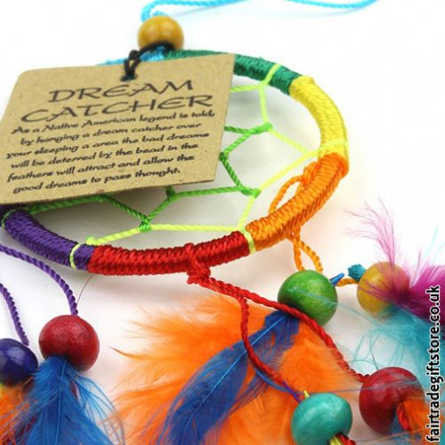 Fair-Trade-Dreamcatcher-Rainbow-Small-Round-detail