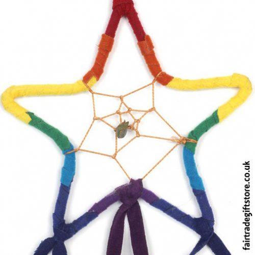 Fair-Trade-Dreamcatcher-Rainbow-Star-detail