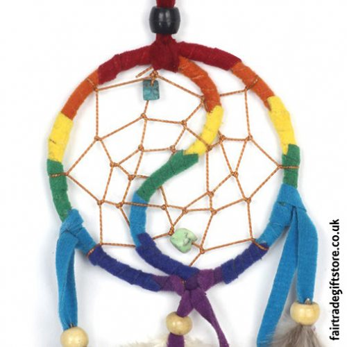 Fair-Trade-Dreamcatcher-Rainbow-Yin-Yang-detail