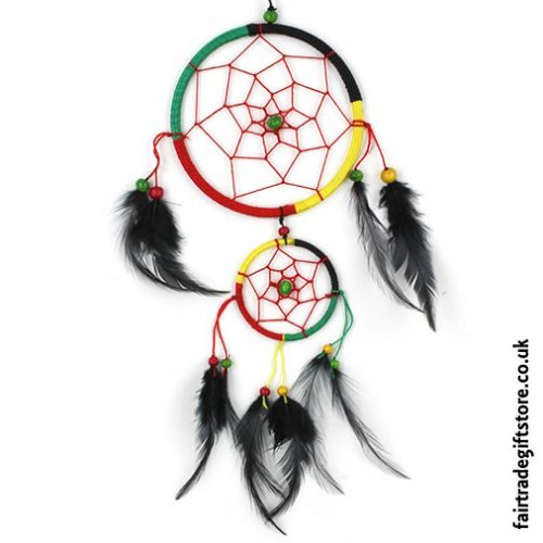 Fair-Trade-Dreamcatcher-Rasta-Medium-Round-Two-Ring