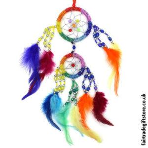 Fair-Trade-Dreamcatcher-Small-Rainbow-Round-Beaded