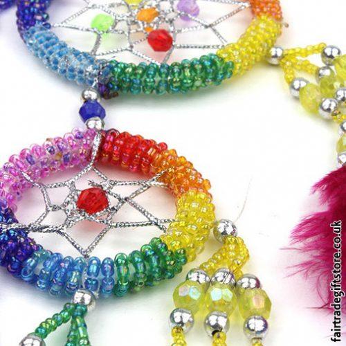 Fair-Trade-Dreamcatcher-Small-Rainbow-Round-Beaded-detail