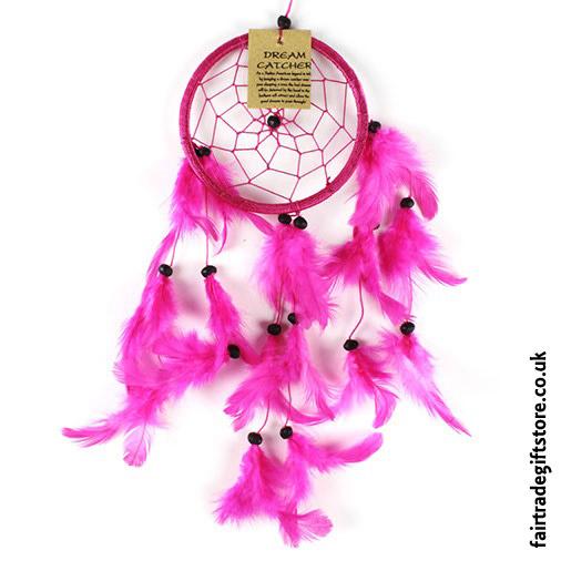 Fair-Trade-Dreamcatcher-Small-Round-Pink