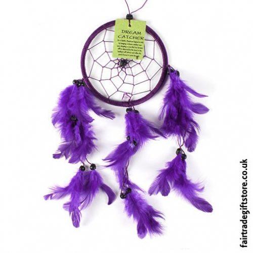 Fair-Trade-Dreamcatcher-Small-Round-Purple