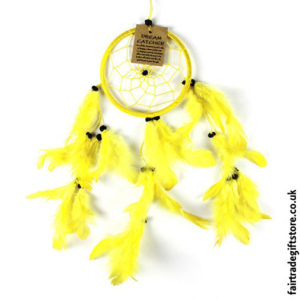 Fair-Trade-Dreamcatcher-Small-Round-Yellow