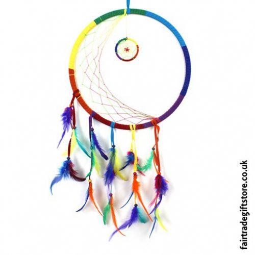 Fair-Trade-Dreamcatcher-XLarge-Round-Rainbow-Crescent-Moon