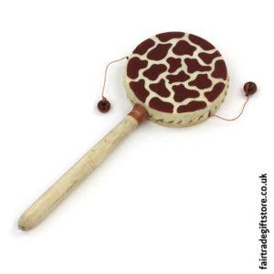 Fair-Trade-Hand-Drum-Giraffe-Print