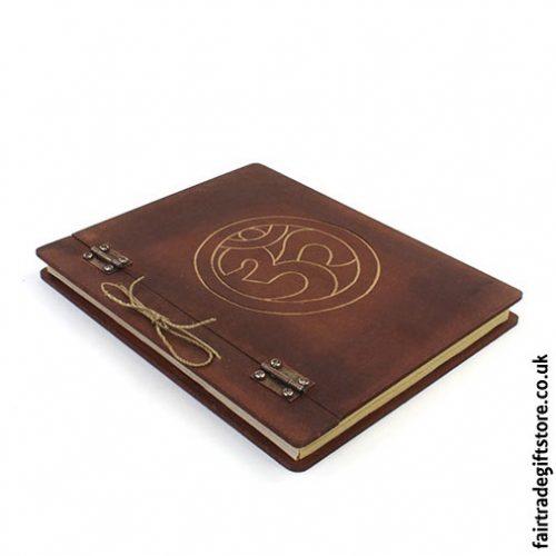 Fair-Trade-Hardback-Notebook-Om-flat