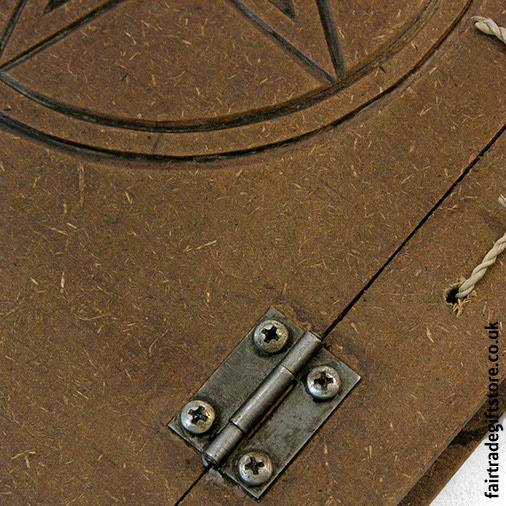 Fair-Trade-Hardback-Notebook-pentacle-detail