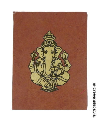 Fair-Trade-Lokta-Paper-Notebook-Brown-Ganesh