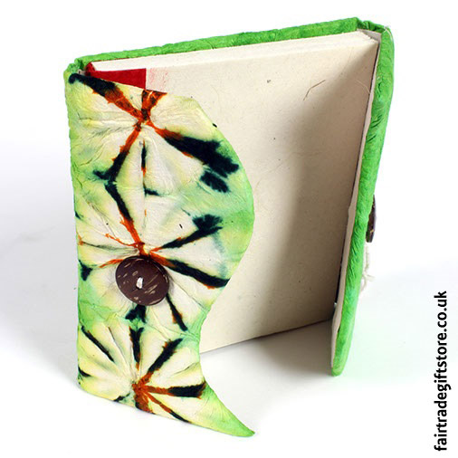 Fair-Trade-Lokta-Paper-Notebook-Open