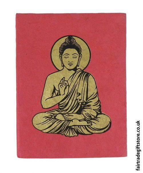 Fair-Trade-Lokta-Paper-Notebook-Red-Buddha